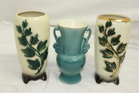 3 Vintage Royal Copley China Vases