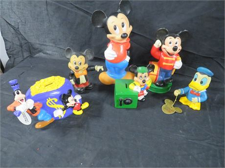 Lot of 6 Disney Banks (230-LVT-TT21)