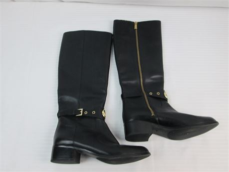 Michael Kors Womens Boots Size 8.5M  Black Leather Upper