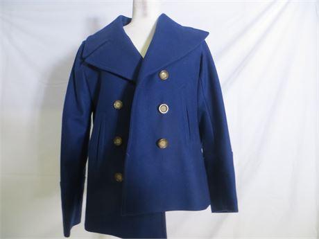 Michael Kors Women's Navy Pea Coat, S/P