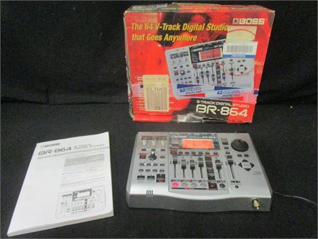 Boss 8-Track Digital Studio Model BR-864 - Turns On