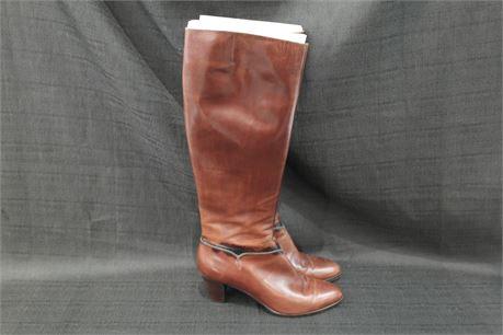 Salvatore Ferragamo Leather  Womens Boots Size 8 Brown