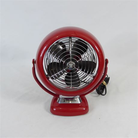 """Retro Style Vornado Table Top Fan, Red 14"""" Tall"""
