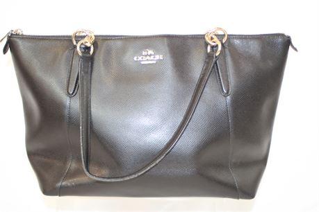 Coach Black Leather Shoulder Bag Tote