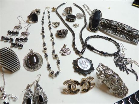All Things Black & Silver With Some Sterling Silver