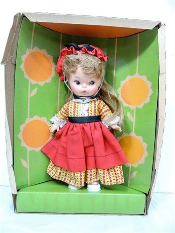 """Vintage 1970's Horsman Teensie Tot 10"""" Vinyl Doll #1100 NRFB"""