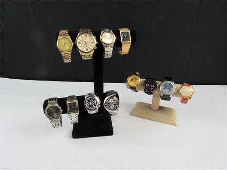 Lot of 12 Men's Watches For Parts and Repair (650)