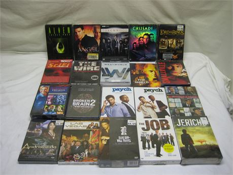 Lot Of 20 Brand New TV Show/Movie DVD Sets