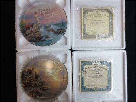 2 Decorative Plates from Thomas Kinkade's Have Faith Collection