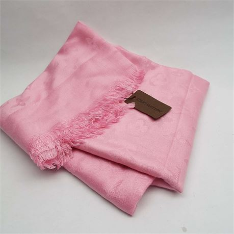 LOUIS VUITTON Pink Scarf  New With Tag
