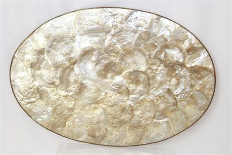 Vintage Mother Of Pearl Dinner Mat 18""