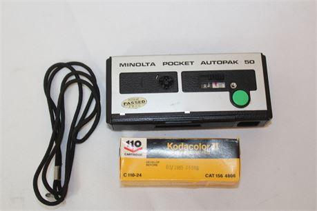 Vintage Minolta Pocket Autopak 50 Film Camera