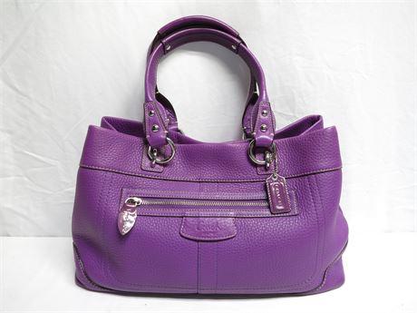 Coach Purple Top-Handle Handbag