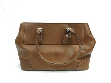Coach Brown Leather Hampton Tote D04S-5131