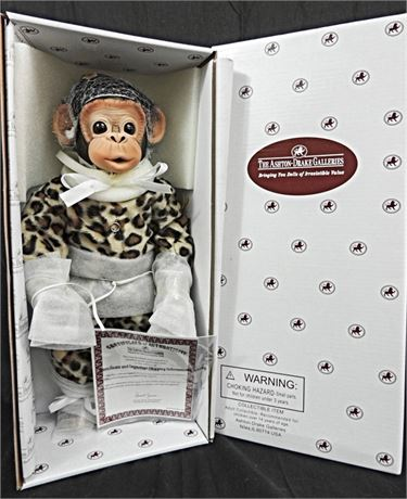"""Little Ubu"" Baby Monkey Ashton Drake Galleries by Cindy Sales 14"" Mint in Box!"