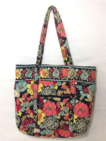 Vera Bradley Flower Tote Shoulder Bag 17X13X2.5