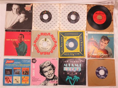 Lot of 45s 7 Inch Vinyl Records Lot A