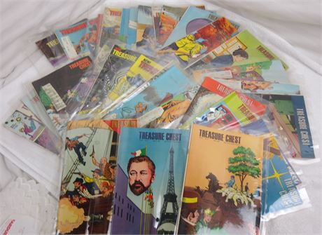 Lot of 30 Treasure Chest of Fun and Fact Comic Books from 1969-1971