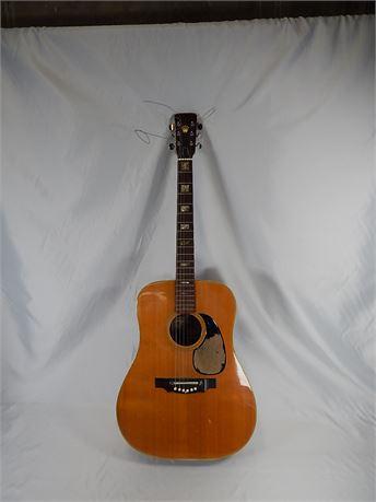 Vintage 1970's Crown Model KW 250 Acoustic Guitar, Made In Japan (R4S1)
