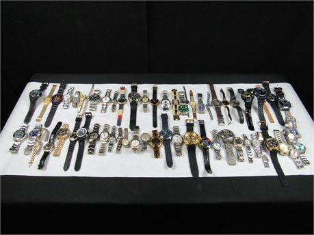 Lot of 62  Watches FPOR NOT AUTHENTICATED  (650)