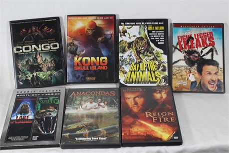 When Giant Animals Attack, Lot of 20 Movie DVDs Featuring Animals Eating People