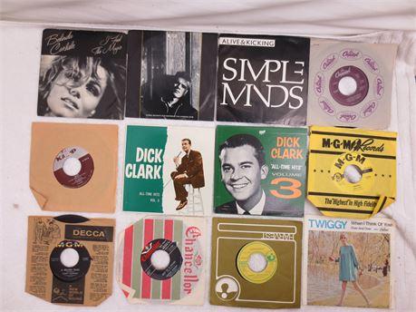 Lot of 45s 7 Inch Vinyl Records Lot D
