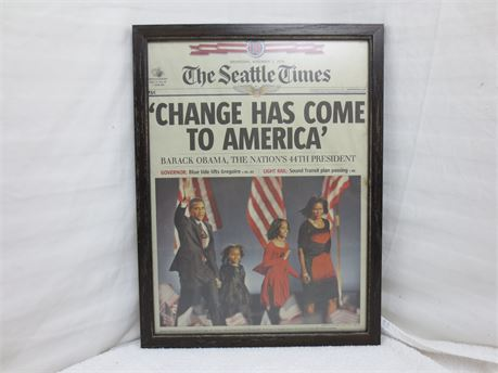 The Seattle Times Wednesday Nov 5 2008 Change Has Come to America Obama Elected