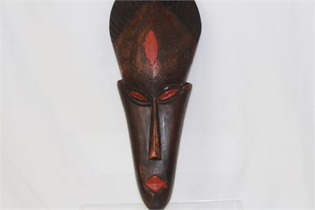 """Decorative African Mask Handcrafted In Ghana 14"""""""