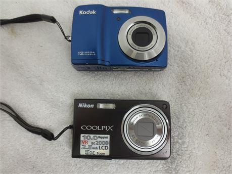 2 Digital Cameras: Nikon Coolpix S550 and Kodak EasyShare CD82