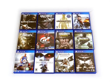 Lot of 12 PlayStation 4 PS4 Games Uncharted Fallout Assassin's Creed Batman
