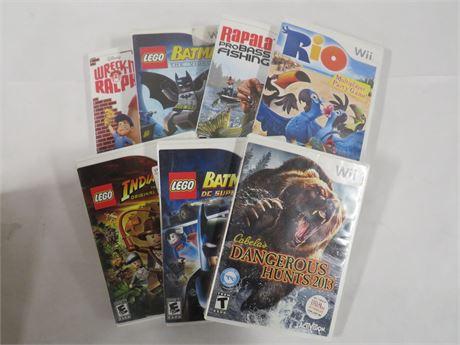 Assorted Wii Games (230-LV14VV)