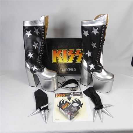 """KISS StarChild """"Rock The Nation Boots""""  Kiss Costume"""