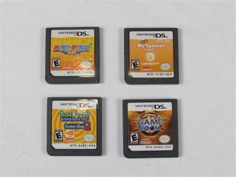 Nintendo DS Video Game Lot of 4 #VG3 (650)