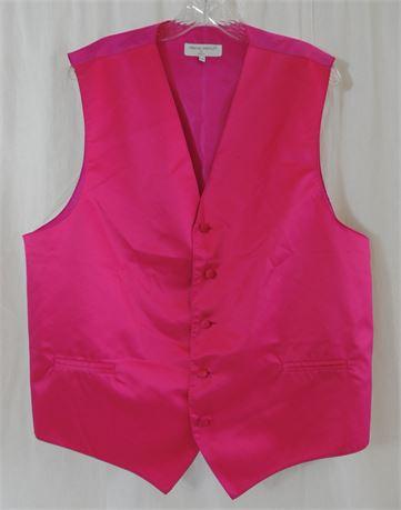 Vesuvio Napoli Pink 100% Polyester Vest Men's Size XXL Made in Italy