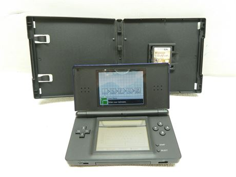 Nintendo DS Lite; USG-001 (Powers On/No A/C Cord) & 1 Game, Pre-Owned