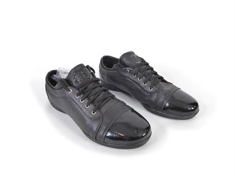Chanel Men's Lace Up Sneakers In Black, 188-2 Size 42 / 8.5