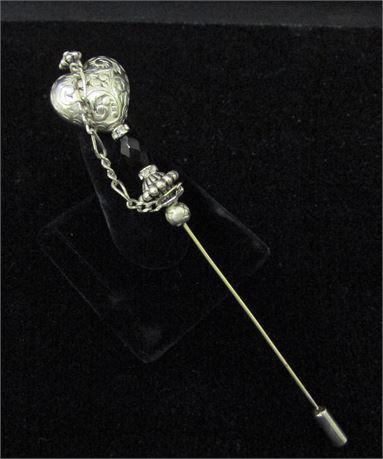 Victorian Heart Stick Pin