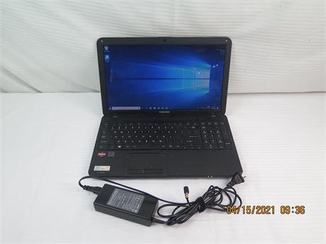"Toshiba Satellite C855D-S5110 15.6"" Laptop PC - Win 10, AMD A6, 4GB, 500GB"