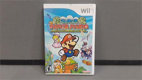 Super Paper Mario. Nintendo Wii Game.