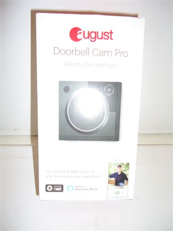August Doorbell Cam Pro 2nd Generation (Dark Gray) NIB