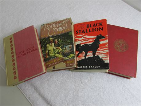Four Vintage Hardcover Books for Sale.