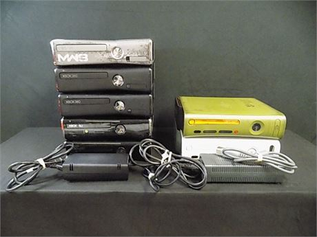 XBox 360 Console Lot; 7 Pieces (Tested!)