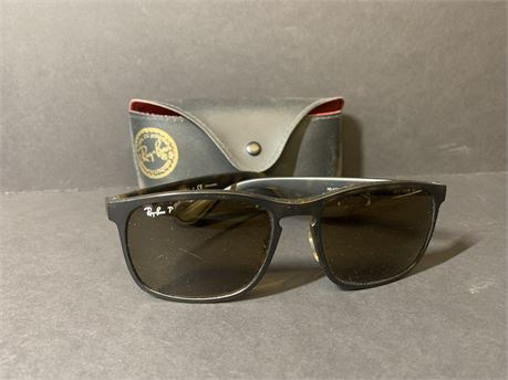 Ray Ban Brown/Black Sunglasses + Sunglasses Case
