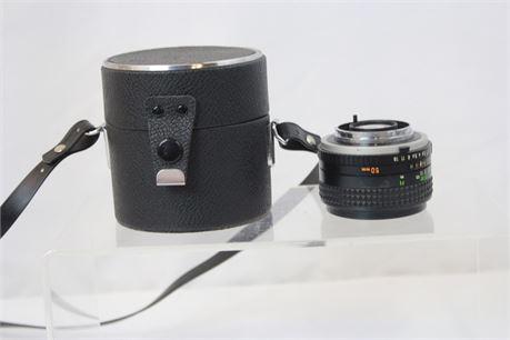 Minolta 1:1.7 50mm Zoom Lens W/ Case