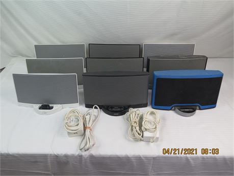 Lot of 6 x Bose SoundDock Series 1, 1 x Series II, 2 x Portable - ALL UNTESTED
