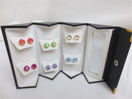 6 Pairs of Colorful Stud Earrings