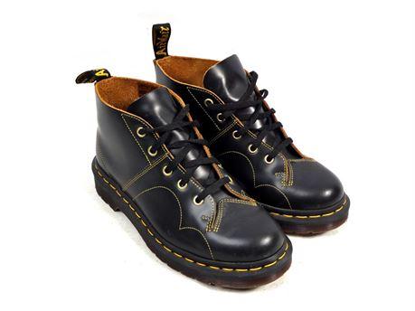 Dr. Martens Church Vintage Monkey Boots USM 6 USL 7 Black Smooth 5-Eye