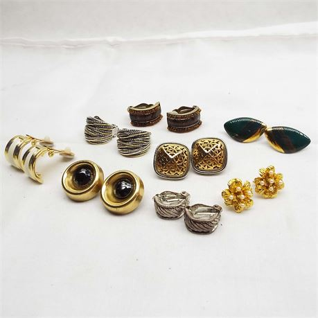 8 Clip On Earrings All Unbranded