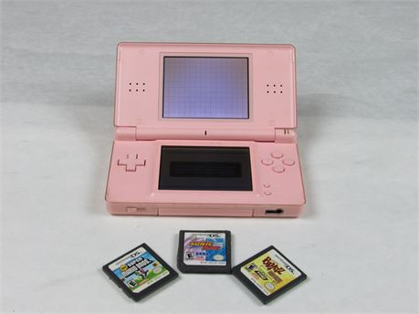 Nintendo DS lite Handheld Game Console with Games Fully Functional #MM495 (650)