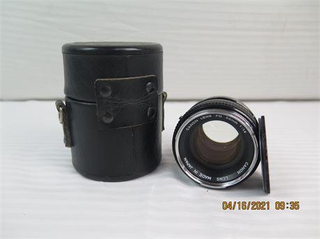 Canon Lens FD 50mm 1:1.4 Lens for Manual Focus Canon Cameras (670)
